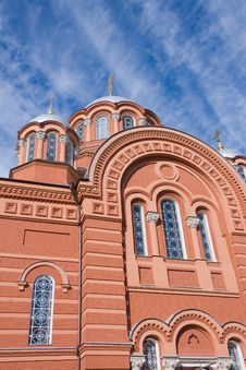 Upper Part Of Saint Nicholas Cathedral, Russia Royalty Free Stock Photo