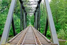 Free Railway Trestle Bridge Royalty Free Stock Photos - 21340438