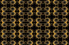 New Patterns Style Color Black Background Stock Photo