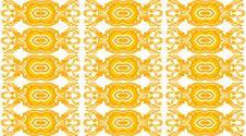 New Thai Art Pattern Style On White Background Stock Photos