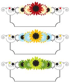 Free Set Of Floral Banners Stock Image - 21342231