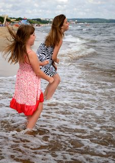 Free Jump Over The Wave Stock Images - 21343394