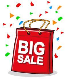 Illustration Of Shopping Bag Royalty Free Stock Photos