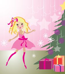 Free Christmas Illustration Royalty Free Stock Photos - 21344258