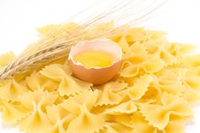 Egg, Pasta And Wheat Stock Image