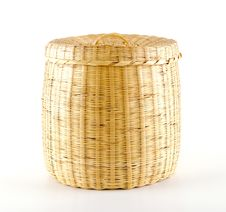 Free Empty Wicker Basket Royalty Free Stock Photo - 21353075