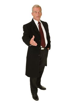 Free Business Man Greeting Royalty Free Stock Photo - 21353725