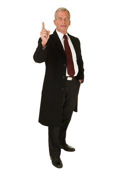 Free Business Man Pointing Finger Up Stock Photo - 21353730