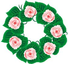 Free Rose Wreath Stock Image - 21355761
