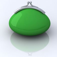 Free Green Purse 3d Royalty Free Stock Image - 21355936