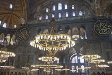Free Interior Of Hagia Sofia Royalty Free Stock Image - 21356216