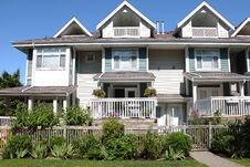 Residences In Richmond BC Canada. Royalty Free Stock Photography
