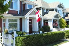Residences In Richmond BC Canada. Stock Photo