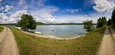 Free Butoniga Lake Panorama Stock Photography - 21358042