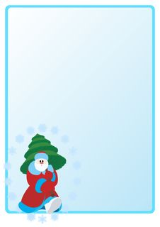 Santa Claus With Christmas Tree. Royalty Free Stock Photo
