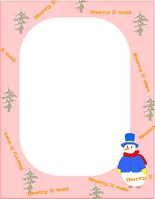 Free Christmas Frame Royalty Free Stock Photo - 21358485