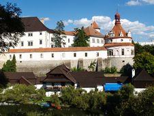 Romantic Castle Hradec - Roundel Royalty Free Stock Photos