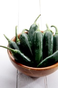 Free Fresh Jalapeño Peppers Royalty Free Stock Images - 21359629