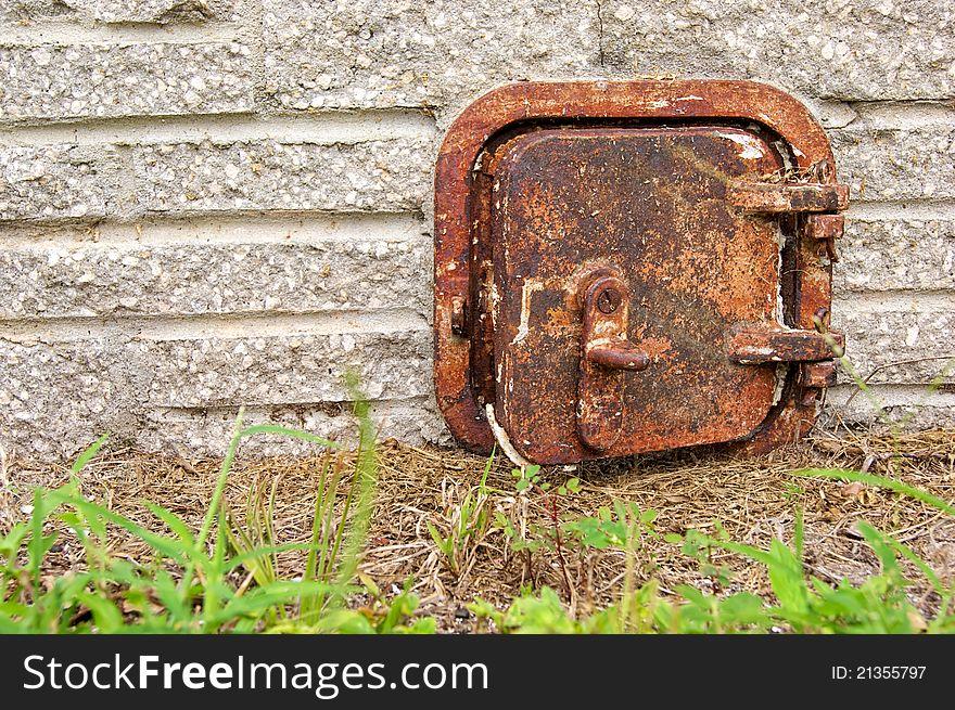 Old rusted iron door