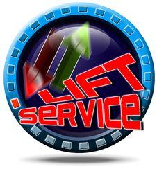 Free Service Lift Royalty Free Stock Photos - 21360578