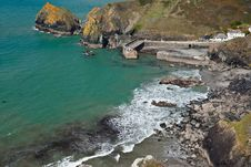 Free Mullion Cove In Cornwall Royalty Free Stock Image - 21360656