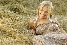 Free Portrait Of Beautiful Blonde Country Girl Royalty Free Stock Photo - 21361105