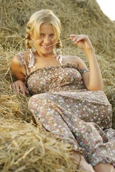 Free Portrait Of Beautiful Blonde Country Girl Stock Photography - 21361112