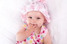Portrait Of A Baby Girl Royalty Free Stock Images