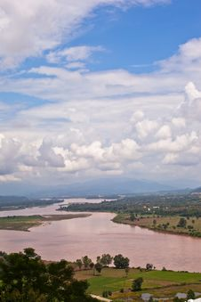 Free Mekong River View Stock Photography - 21363532