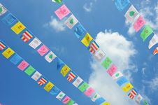 Free String Of  Flags Stock Photography - 21363542