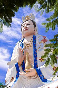 Free Kuan Yin At Khao Sam Muk, Chonburi. Royalty Free Stock Images - 21364209