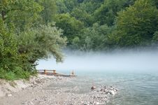 Free Fog Over A River Stock Images - 21366894
