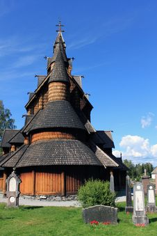 Free Heddal Stave Church Royalty Free Stock Photos - 21367128