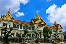 Free Royal Palace In Watphrakrew Royalty Free Stock Image - 21367386