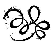 Dragon Tattoo Vector Illustration Royalty Free Stock Photography