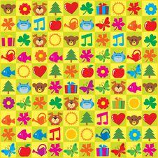 Free Kids Stickers Royalty Free Stock Photo - 21369455