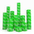 Free Stacks Of Green Cubes With Percents Royalty Free Stock Photos - 21379868