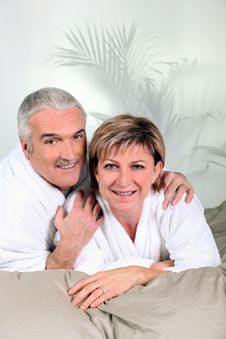 Free Mature Couple In The Bed Stock Images - 21371074