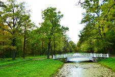Free The Bridge In Alexander`s Park In Tsarskoe Selo Royalty Free Stock Photos - 21371238