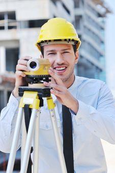 Free Architect On Construction Site Stock Photos - 21371633