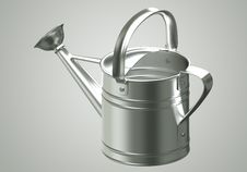 Free 3D Watering Can Chromium Royalty Free Stock Photo - 21371775