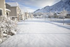 Free Winter Time In The Suburbs Royalty Free Stock Images - 21372039