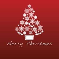Free Red Christmas Background Stock Images - 21372104