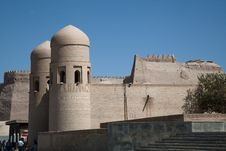 Free Uzbekistan The Old City Walls Royalty Free Stock Images - 21374059