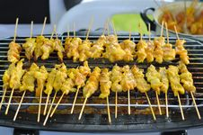 Free Grilled Pork Barbecue In Thai Style Royalty Free Stock Image - 21374126
