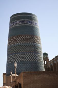 Free Uzbekitan, The Incomplete Minaret Royalty Free Stock Image - 21374146