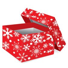 Free Christmas Red Gift Box Stock Images - 21374164