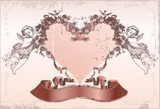 Free Love Card. The Valentine S Day Stock Images - 21374644