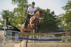 Free Show Jumping Royalty Free Stock Photo - 21375625