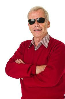 Senior With Shades Royalty Free Stock Photography
